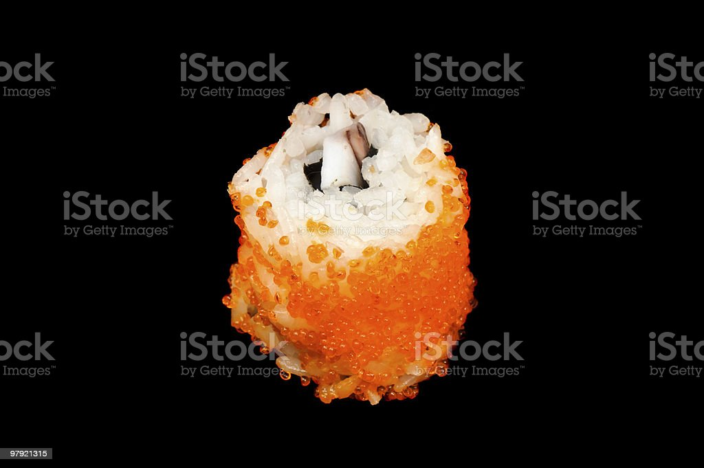 maki sushi with ikura royalty-free stock photo