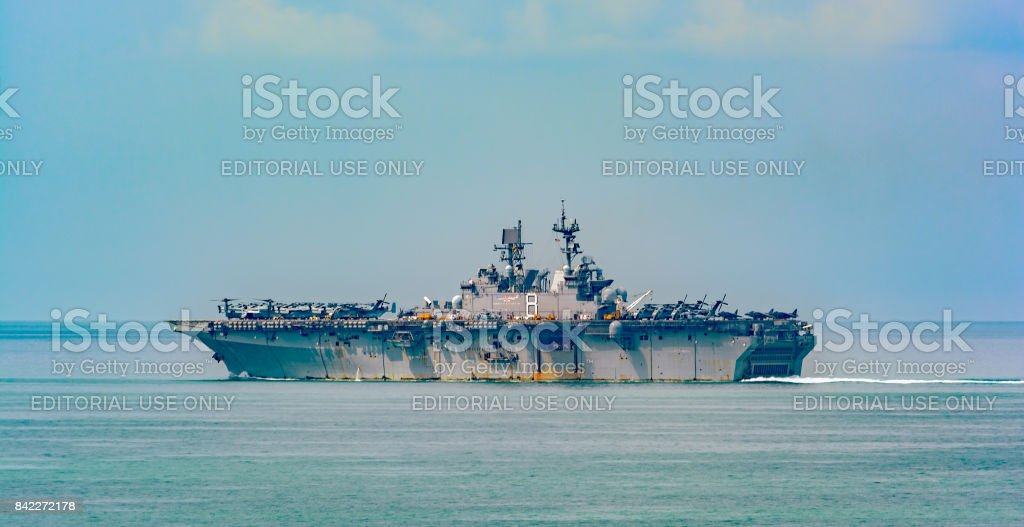 USS Makin Island (LHD 8) stock photo