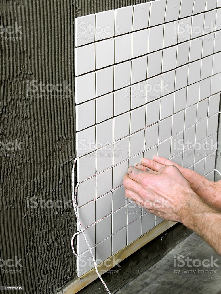 Making a Bathroom.... royalty-free stock photo
