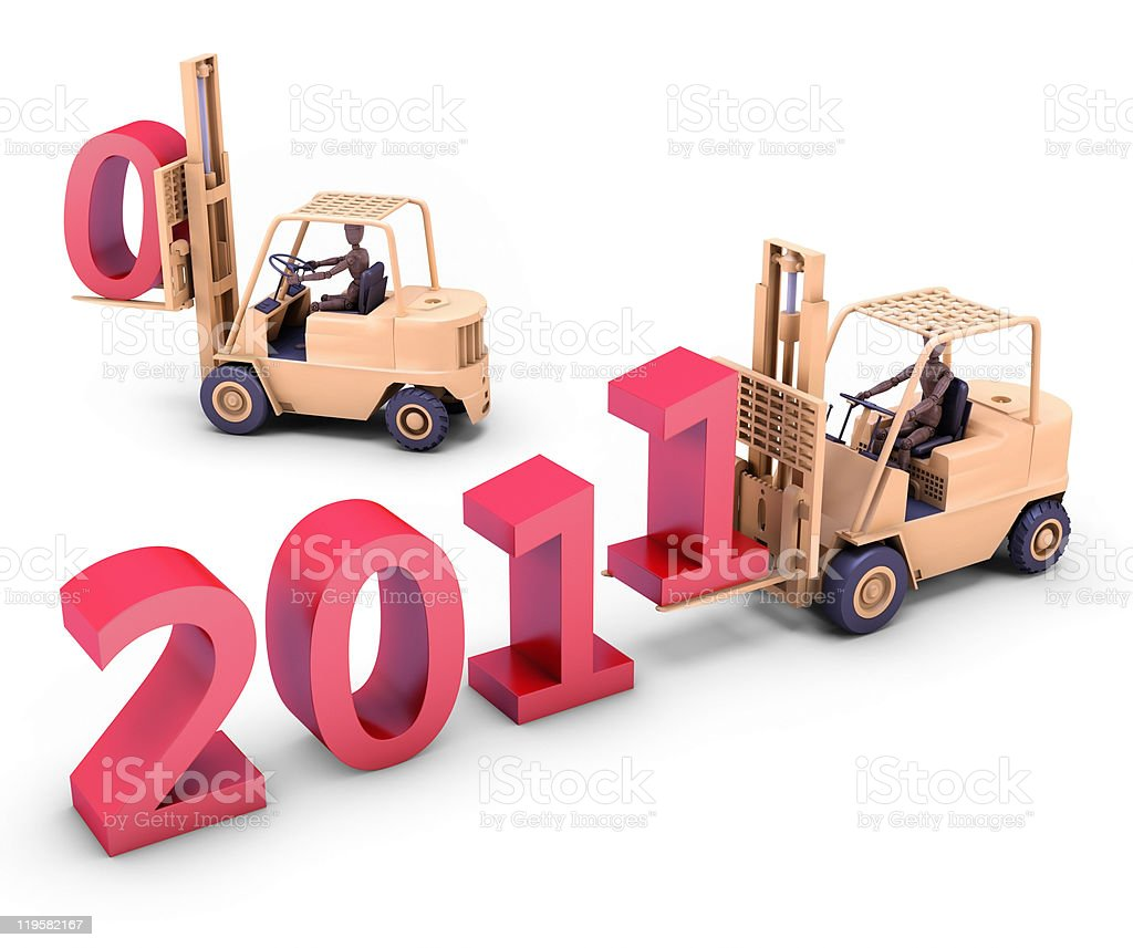 Making a better new year stock photo