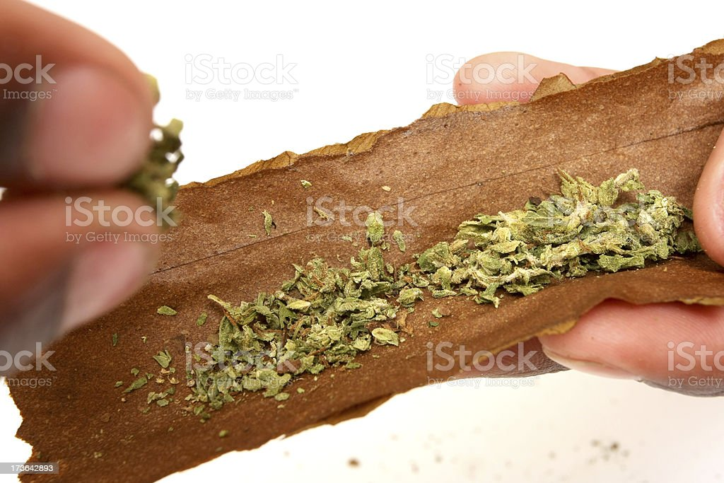 making a blunt stock photo