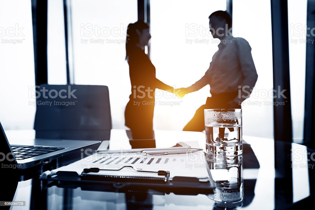 Making a business deal stock photo