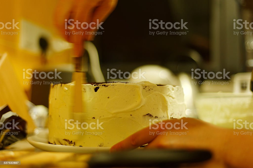 Making a Cake stock photo