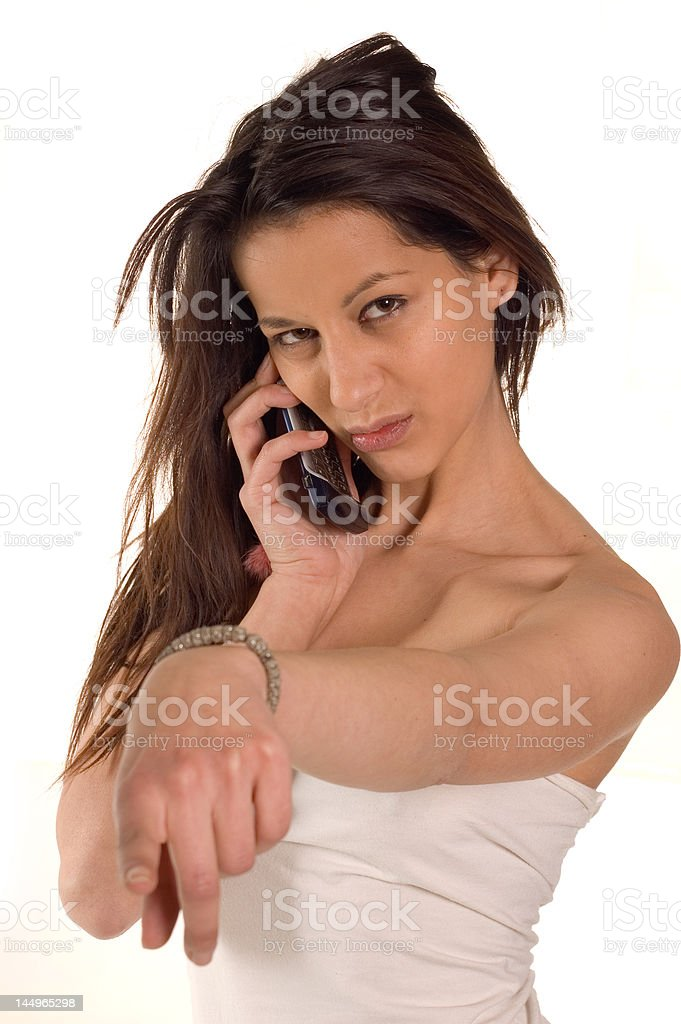 Making a call stock photo