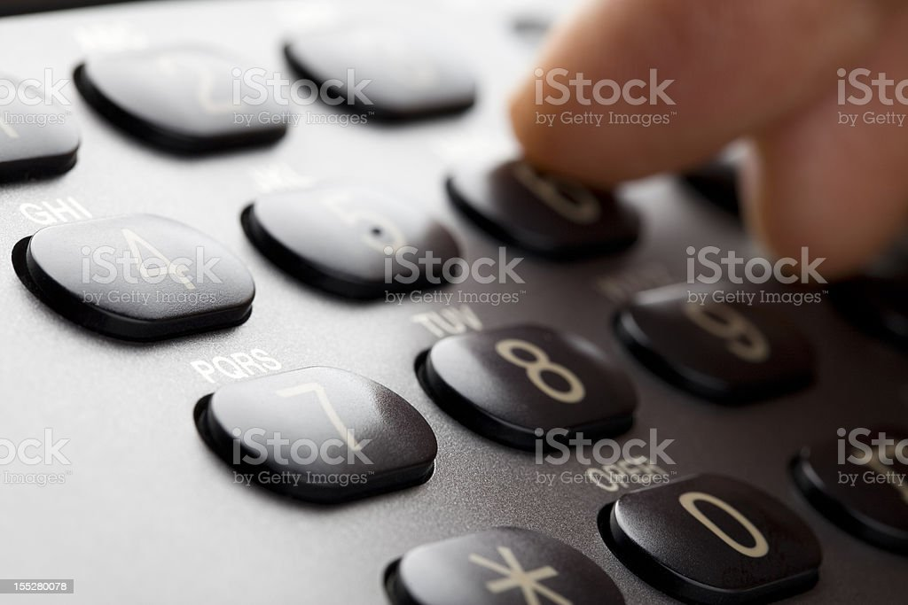 Making a Call royalty-free stock photo