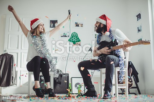 849362192 istock photo Making a christmas song 849336172