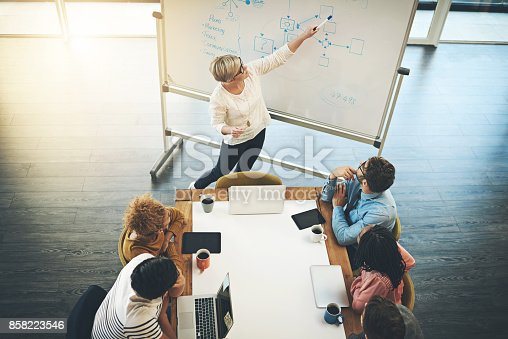 istock Making a clear point about their gameplan 858223546