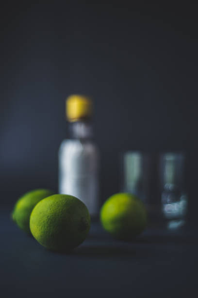 Making a cocktail stock photo