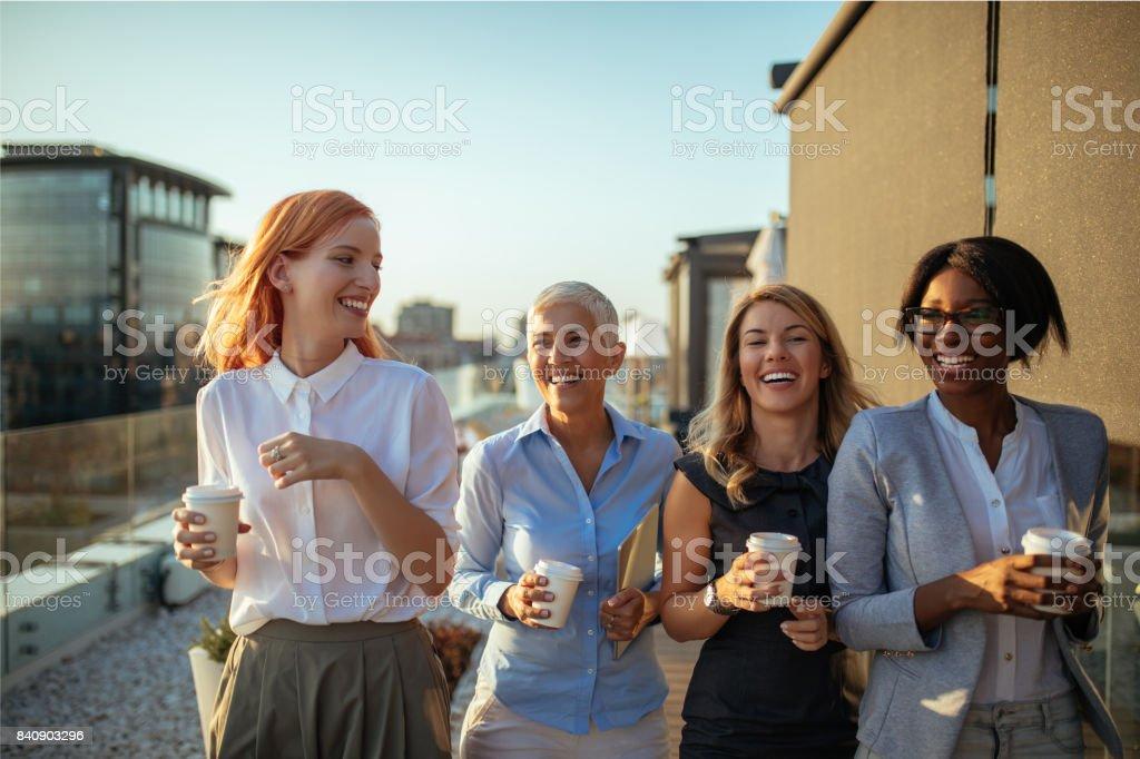 Making a coffee break stock photo