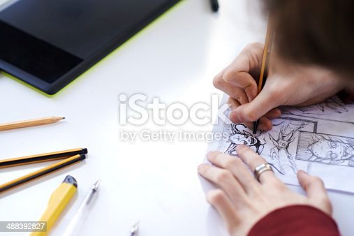 istock Making a comic strip 488392827