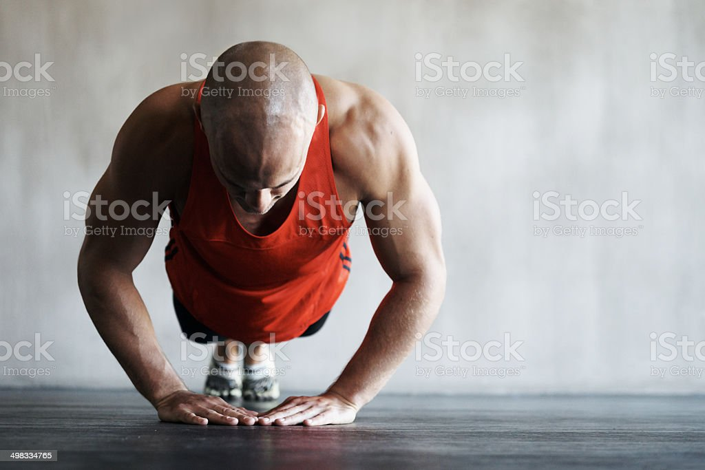 Making a concerted effort to get fit stock photo
