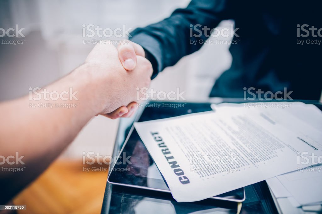 Making a deal stock photo