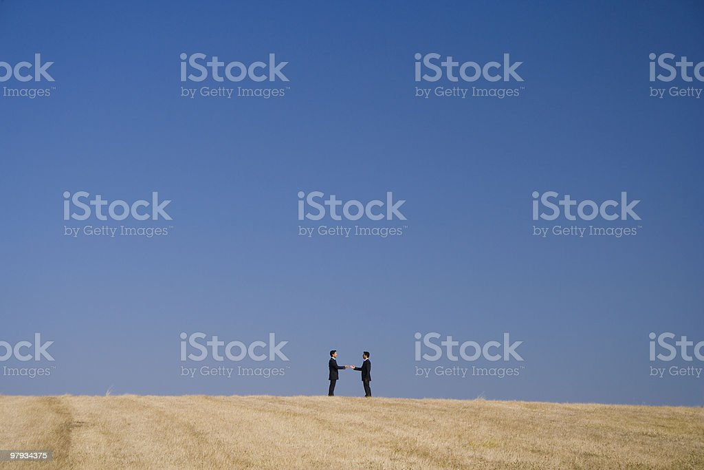 Making a deal with nature royalty-free stock photo