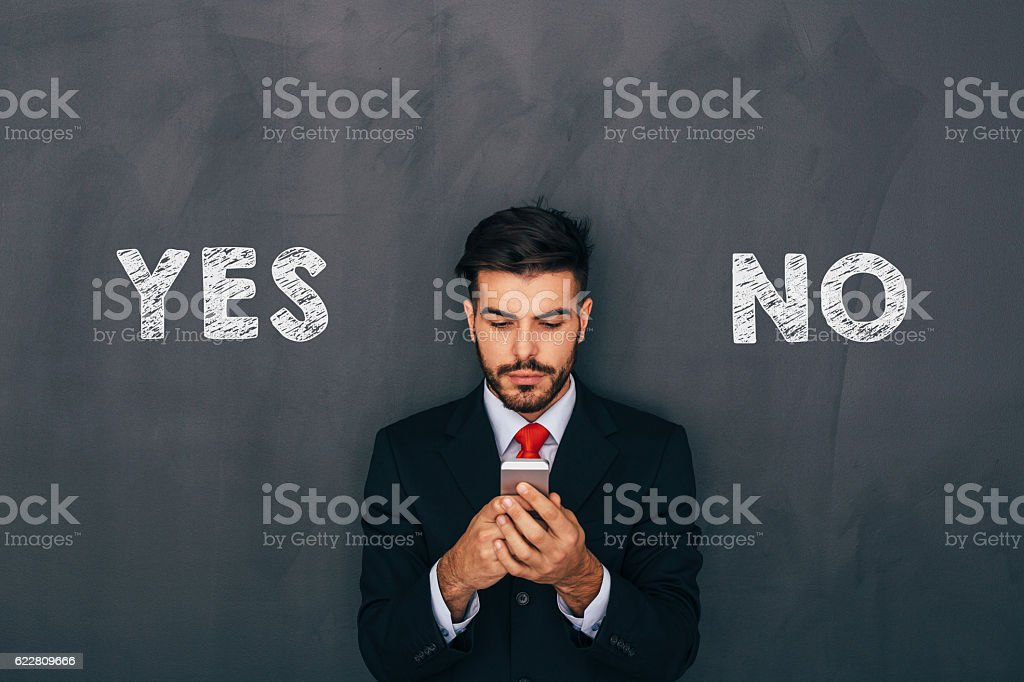 Making a decision stock photo