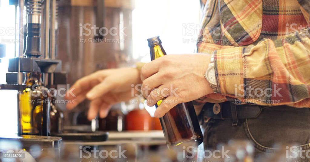 Making a delicious new brew stock photo