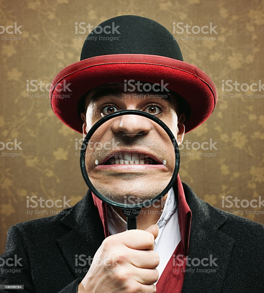 Making a face royalty-free stock photo