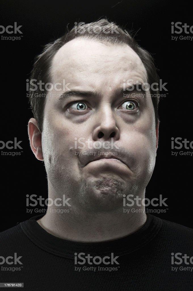 Making A Face Portrait stock photo