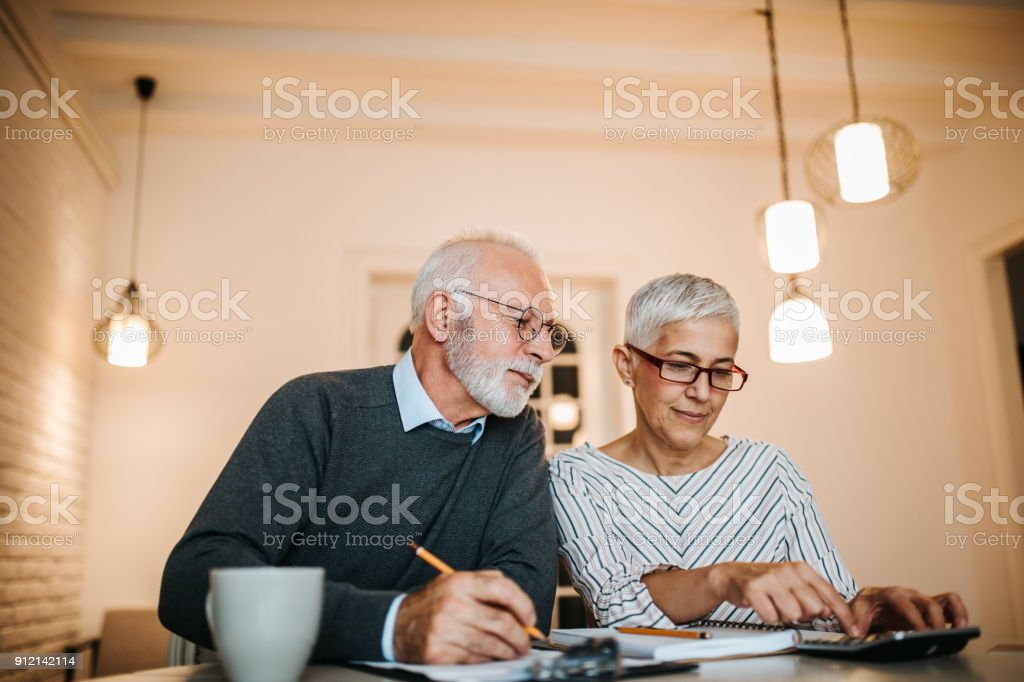 Making a financial plan stock photo