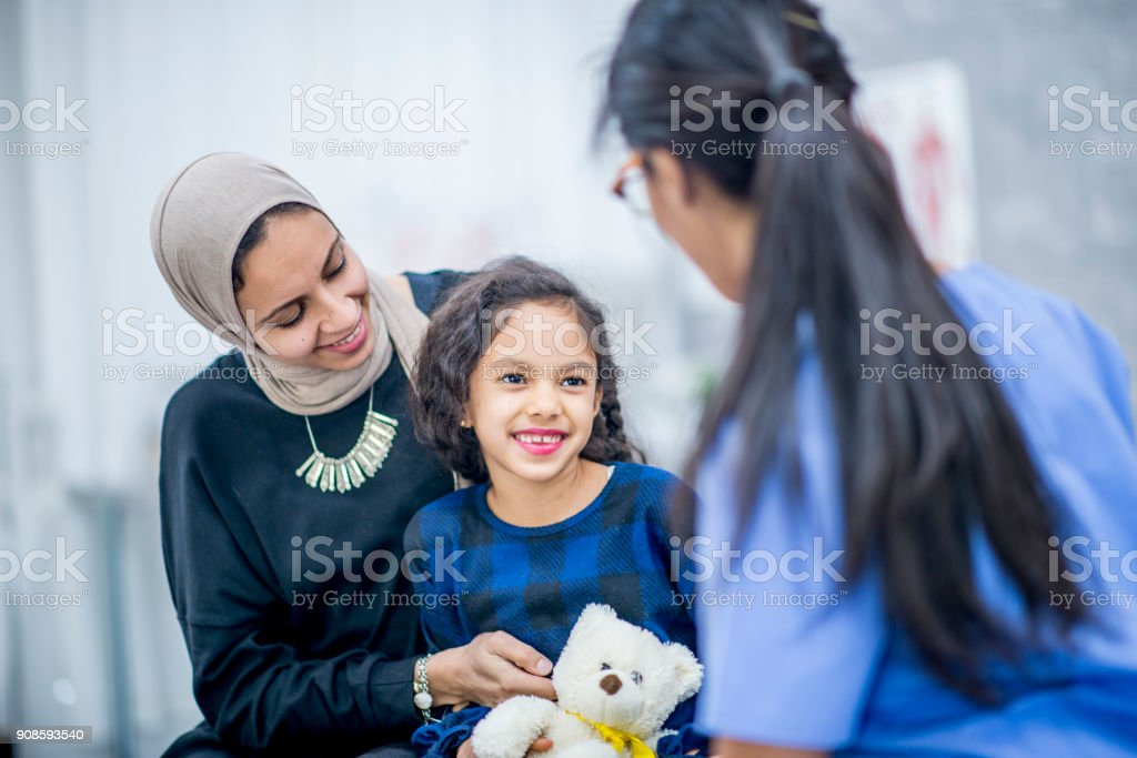 Making A Girl Smile stock photo
