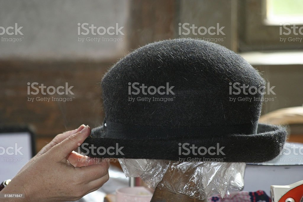 Making a hat stock photo