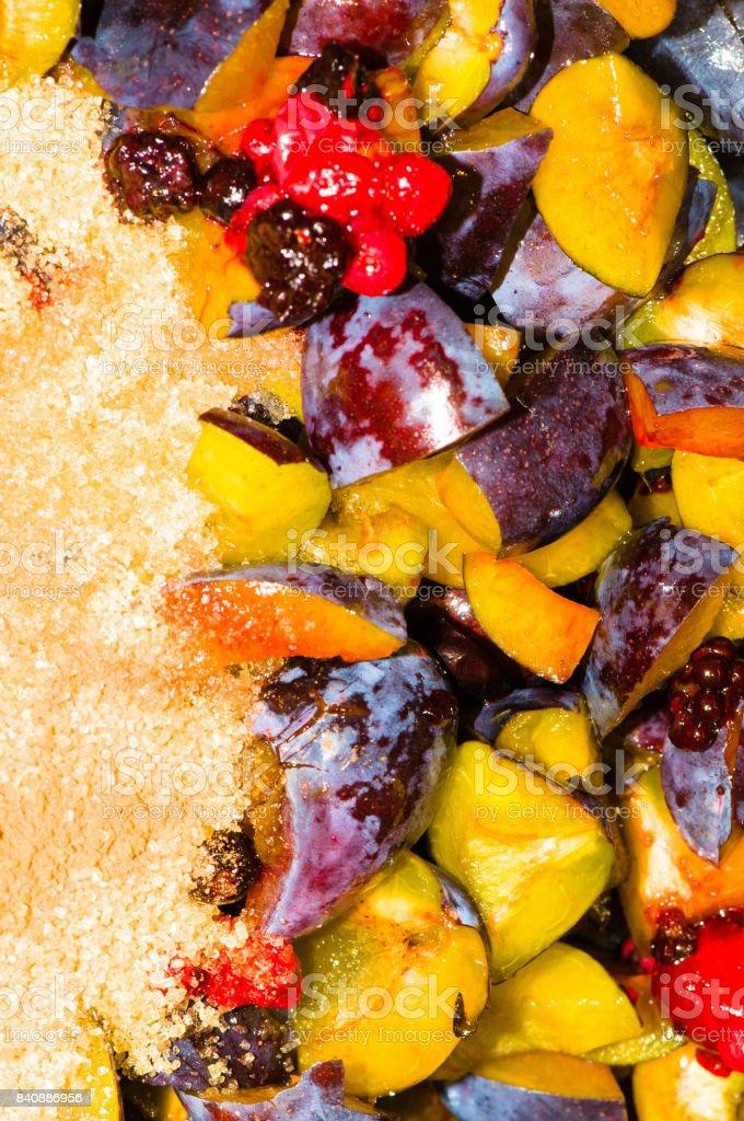 Machen einen hausgemachten Marmelade – Foto