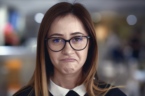 Making A Nerd Face Stock Photo - Download Image Now