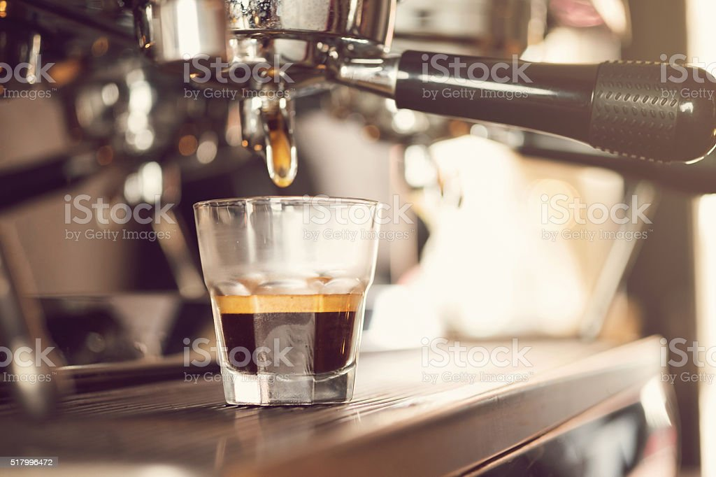 Making A Perfect Irish Coffee stock photo