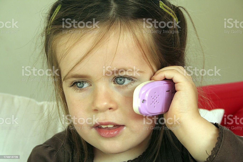 making a phone call stock photo