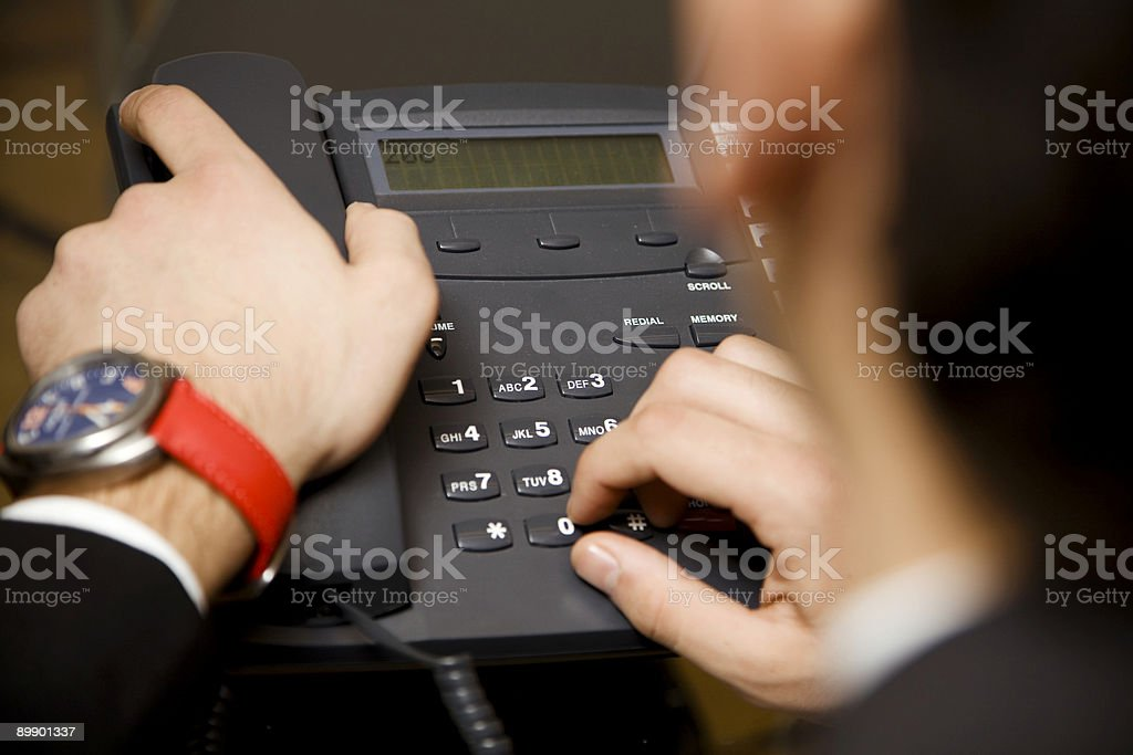 making a phonecall royalty-free stock photo