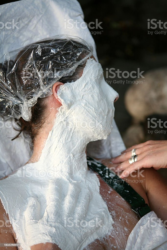 Making a plaster mould... stock photo