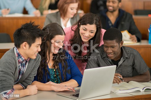 istock Making a Presentation on a Laptop 508251188