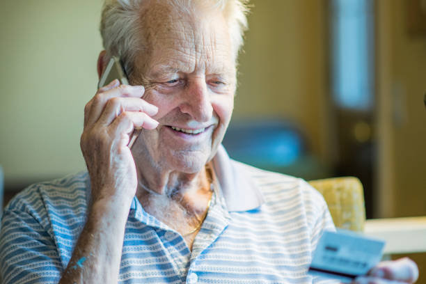 Making a Purchase Over the Phone stock photo