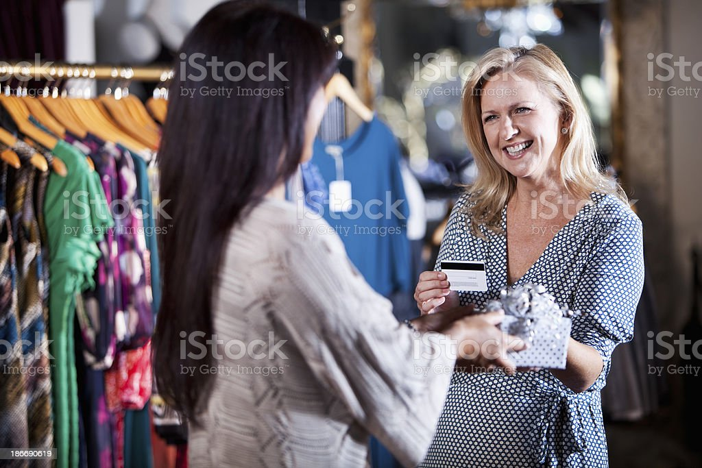 Making a purchase royalty-free stock photo