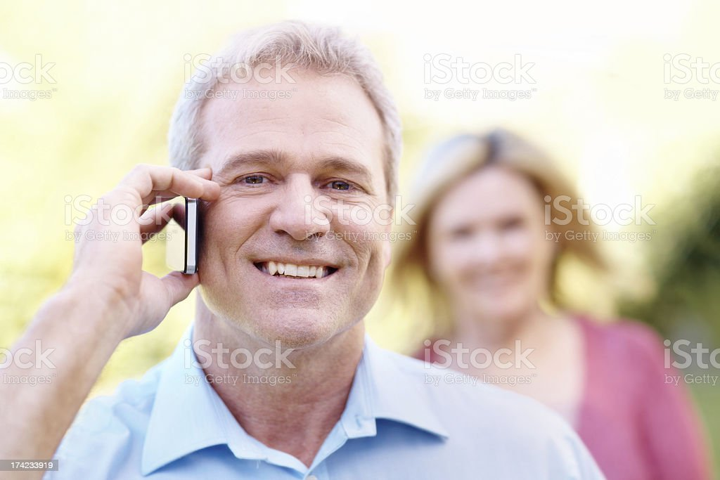 Making a quick call royalty-free stock photo