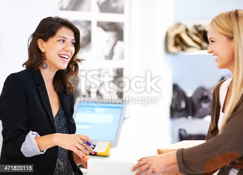 istock Making a sale 471820115