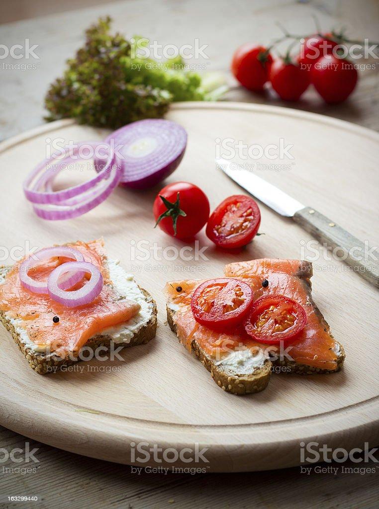 Making a sandwich royalty-free stock photo