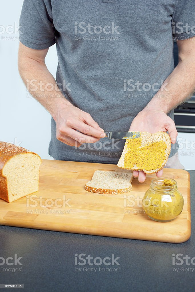 Making a Sandwich stock photo
