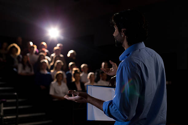 making a speech - awards ceremony stock photos and pictures
