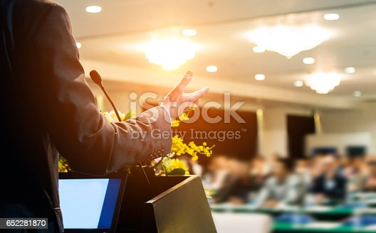 istock making a speech 652281870