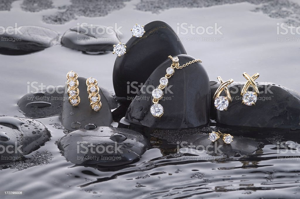 Making a Splash With Gold and Diamonds stock photo