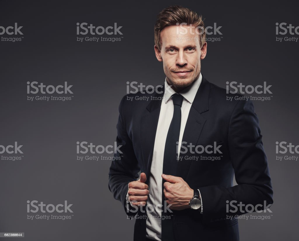 Making a statement with a power suit royalty-free stock photo