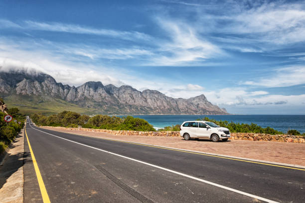 Making a stop on road trip trough South Africa on the garden route stock photo