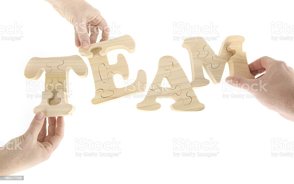 Making a Team royalty-free stock photo