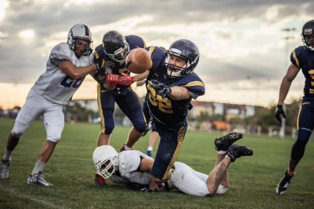 Fazer um touchdown! - foto de acervo
