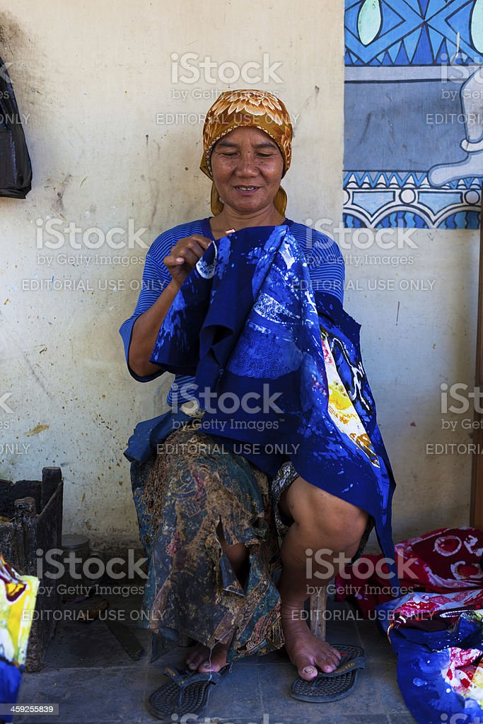 Making a Traditional Batik in Yogakarta, Indonesia royalty-free stock photo