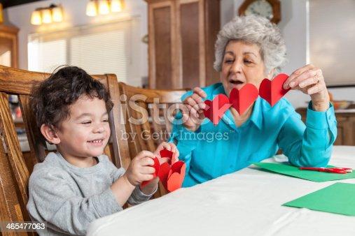 istock Making a Valentine's Card  for Grandma 465477063
