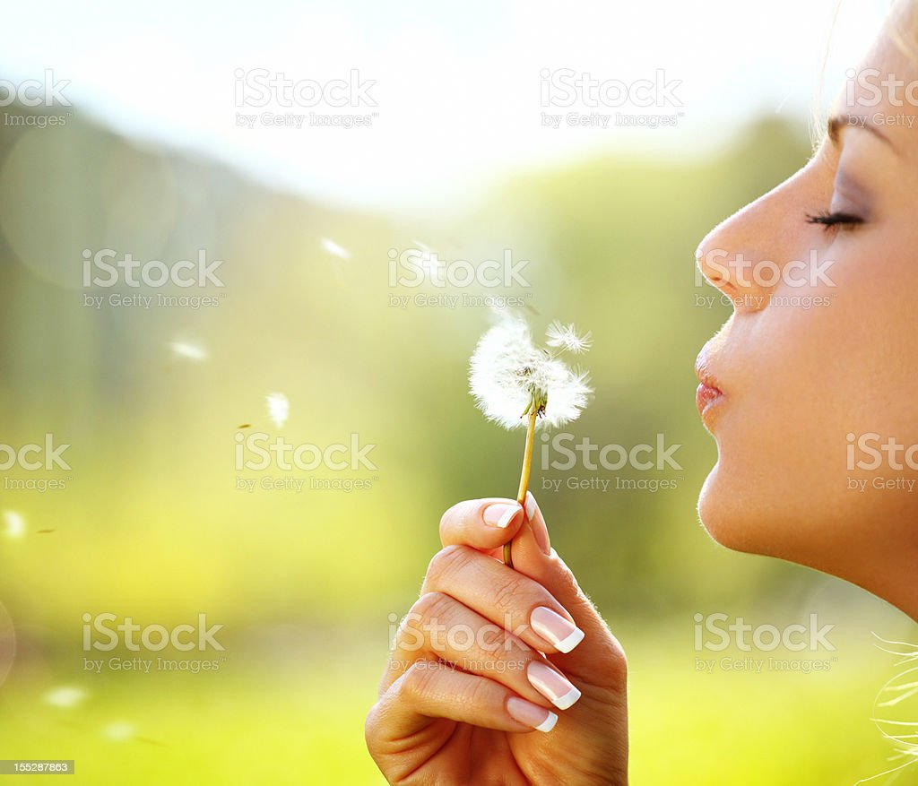 Making a wish. royalty-free stock photo