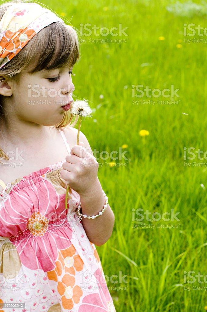 Making a wish royalty-free stock photo