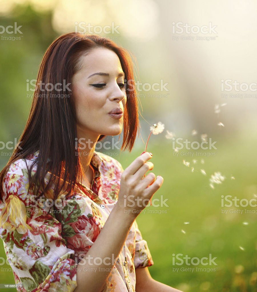 Making a wish. royalty-free stock photo