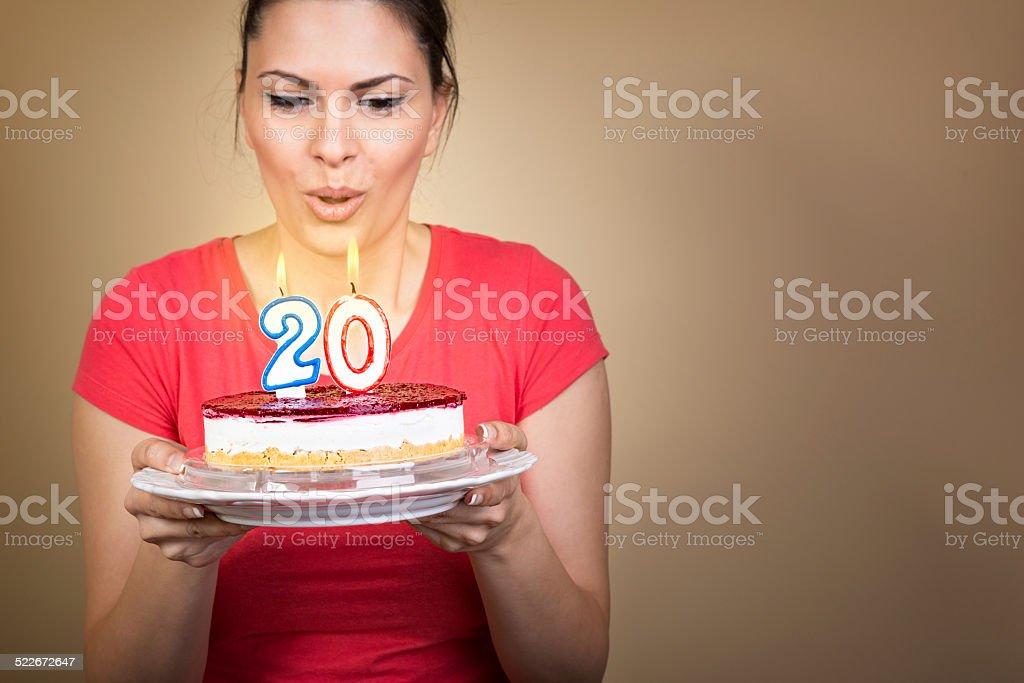 Making a wish stock photo